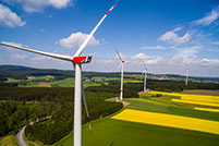 Panoramabild Windpark Vielitz